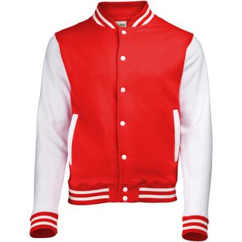 Kleidung Jacken Awdis JH043 Feuerrot/Weiß