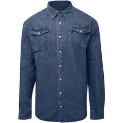 Kleidung Herren Langärmelige Hemden Duke  Steinwäsche
