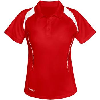 Kleidung Damen Polohemden Spiro S177F Rot/Weiß