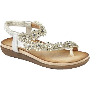 Schuhe Damen Sandalen / Sandaletten Cipriata  Hellsilber
