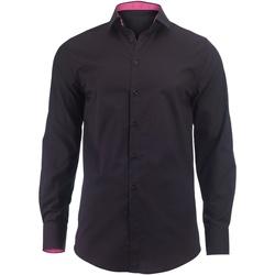 Kleidung Herren Langärmelige Hemden Alexandra Hospitality Schwarz/Pink