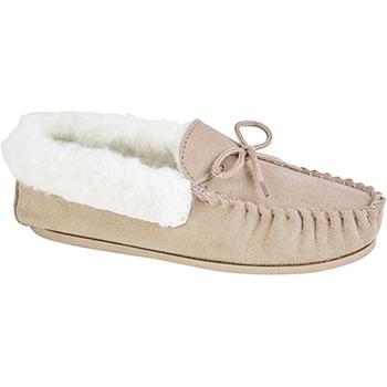 Schuhe Damen Hausschuhe Mokkers  Steinfarben