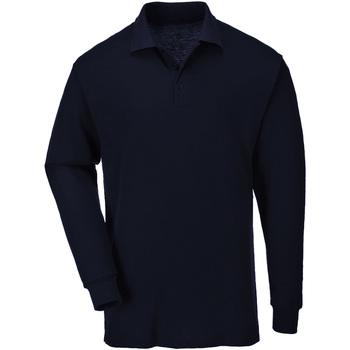 Kleidung Herren Langärmelige Polohemden Casual Classics  Marineblau
