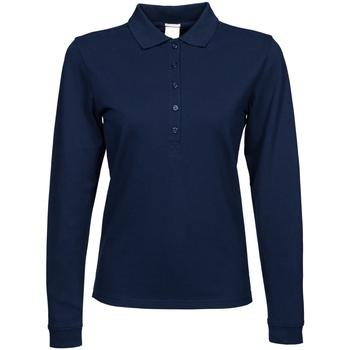 Kleidung Damen Langärmelige Polohemden Tee Jays TJ146 Marineblau