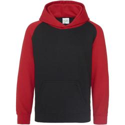 Kleidung Kinder Sweatshirts Awdis JH09J Schwarz/Rot