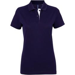 Kleidung Damen Polohemden Asquith & Fox Contrast Marineblau/Weiß