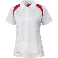 Kleidung Damen Polohemden Spiro S177F Weiß/Rot