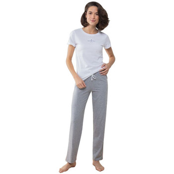 Kleidung Damen Pyjamas/ Nachthemden Towel City TC053 Weiß/Grau Meliert