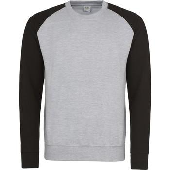 Kleidung Herren Sweatshirts Awdis JH033 Grau meliert/Schwarz