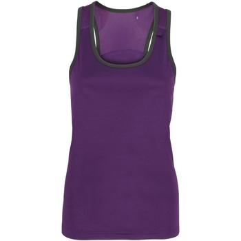 Kleidung Damen Tops Tridri TR023 Violett/Anthrazit