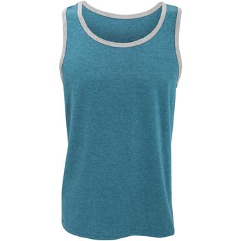 Kleidung Herren Tops Anvil 986 Karibik Blau / Heather Grau