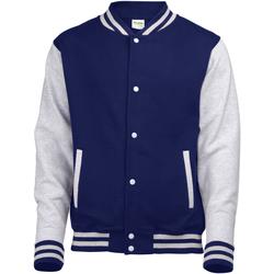 Kleidung Kinder Jacken Awdis JH43J Oxfordblau/Heather Grau