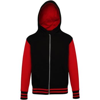 Kleidung Kinder Sweatshirts Awdis JH51J Schwarz/Rot