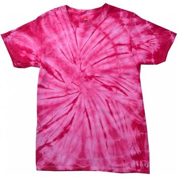 Kleidung Kinder T-Shirts Colortone Spider Spinne Pink