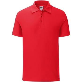 Kleidung Herren Polohemden Fruit Of The Loom SS221 Rot