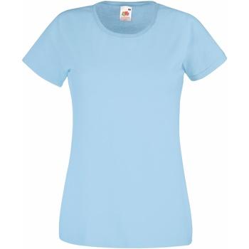 Kleidung Damen T-Shirts Fruit Of The Loom 61372 Himmelblau