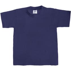 Kleidung Kinder T-Shirts B And C TK301 Dunkelblau
