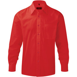 Kleidung Herren Langärmelige Hemden Russell 934M Rot