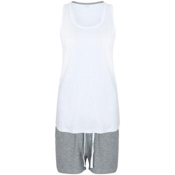 Kleidung Damen Pyjamas/ Nachthemden Towel City TC052 Weiß/Grau Meliert