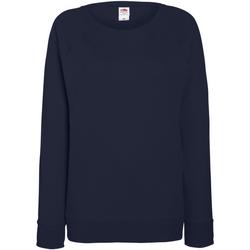 Kleidung Damen Sweatshirts Fruit Of The Loom 62146 Marineblau