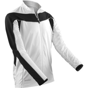 Kleidung Herren Trainingsjacken Spiro S255M Weiß/Schwarz