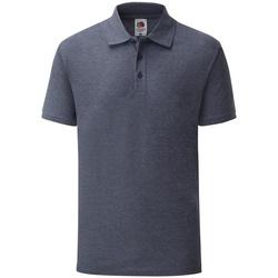 Kleidung Herren Polohemden Fruit Of The Loom 63402 Marineblau meliert