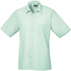 Kleidung Herren Kurzärmelige Hemden Premier PR202 Wasserblau