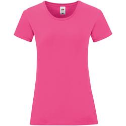 Kleidung Damen T-Shirts Fruit Of The Loom 61432 Fuchsia