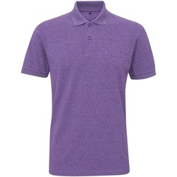 Kleidung Herren Polohemden Asquith & Fox Twisted Violett Melange