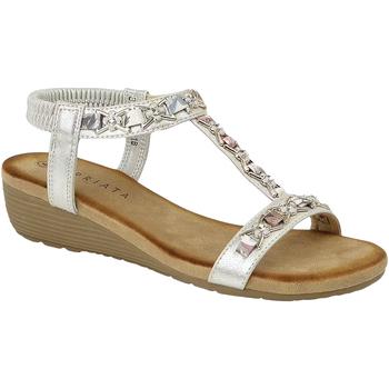 Schuhe Damen Sandalen / Sandaletten Cipriata Lia Silber