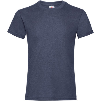 Kleidung Mädchen T-Shirts Fruit Of The Loom 61005 Vintage Heidekraut Marine