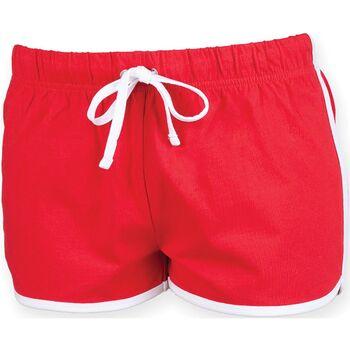 Kleidung Damen Shorts / Bermudas Skinni Fit SK069 Rot/Weiß