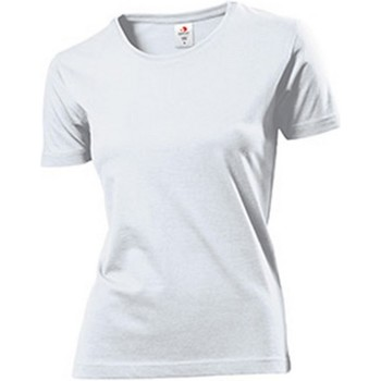 Kleidung Damen T-Shirts Stedman Comfort Weiß