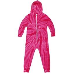Kleidung Kinder Pyjamas/ Nachthemden Colortone Die Tye Spider Pink