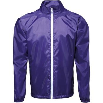 Kleidung Herren Windjacken 2786  Violett/Weiß