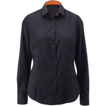 Kleidung Damen Hemden Alexandra AX060 Schwarz/Orange