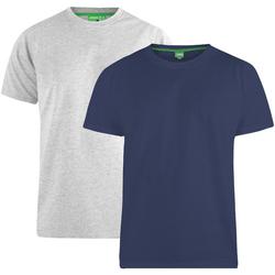 Kleidung Herren T-Shirts Duke Fenton Marineblau/Grau