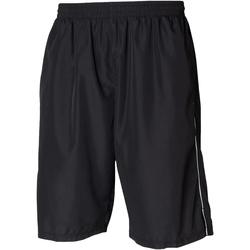 Kleidung Herren Shorts / Bermudas Tombo Teamsport Longline Schwarz/Weiß