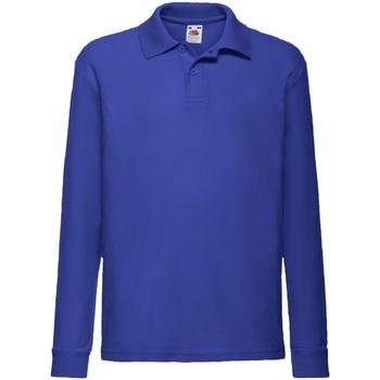 Kleidung Jungen Langärmelige Hemden Fruit Of The Loom 63201 Königsblau