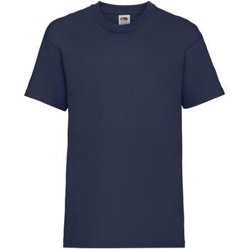 Kleidung Kinder T-Shirts Fruit Of The Loom 61033 Marineblau