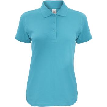 Kleidung Damen Polohemden B And C Safran Himmelblau