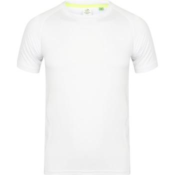 Kleidung Herren T-Shirts Tombo Teamsport TL515 Weiß/Weiß