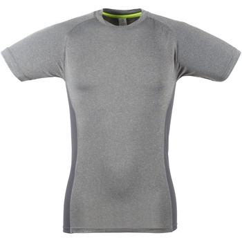 Kleidung Herren T-Shirts Tombo Teamsport TL515 Grau meliert/Grau