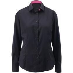 Kleidung Damen Hemden Alexandra AX060 Schwarz/Pink