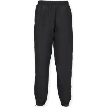 Kleidung Herren Jogginghosen Tombo Teamsport TL470 Schwarz/Weißer Seitenstreifen