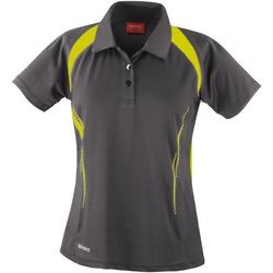 Kleidung Damen Polohemden Spiro S177F Grau/Limette