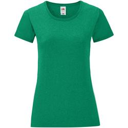 Kleidung Damen T-Shirts Fruit Of The Loom 61432 Grün meliert