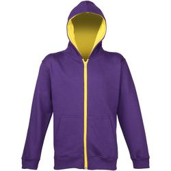 Kleidung Kinder Sweatshirts Awdis JH53J Violett/Sonnengelb