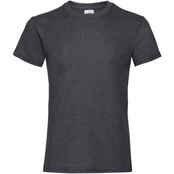 Kleidung Mädchen T-Shirts Fruit Of The Loom Valueweight Dunkel Heidekraut