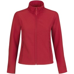 Kleidung Damen Fleecepullover B And C JWI63 Rot/Grau